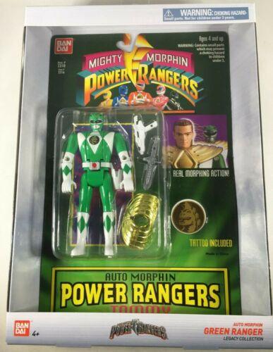 BANDAI GREEN RANGER MIGHTY POWER RANGERS LEGACY COLLECTION AUTO MORPHIN FIGURE!
