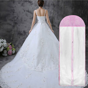 Breathable-Wedding-Prom-Dress-Gown-Garment-Clothes-Cover-Dustproof-Bag-Zip-s
