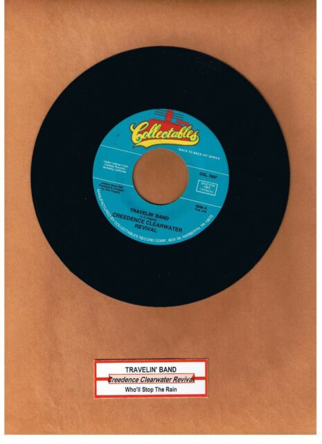 """CREEDENCE CLEARWATER REVIVAL - TRAVELIN' BAND / STOP THE RAIN """"JUKEBOX"""" 45  MINT"""