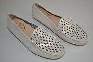 118-NEW-Jack-Rogers-Loafer-Moccasin-Perforated-Flats-Gold-Sparkle-Shoes-6