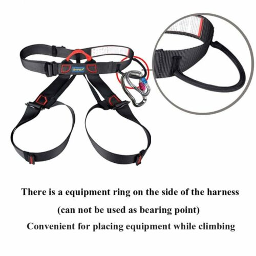 Rock Climbing Rappelling Harness Aluminum Carabiner Locking Gear Grappling Hook