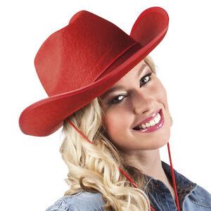 Cowgirl Hut Rot Neu Karneval Fasching Hut Mutze Kopfbedeckung Ebay