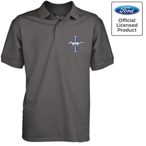 Officiel-Licence-FORD-MUSTANG-GT-Triathlon-Men-039-s-Polo-Shirt