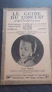 Revista Le Guía de La Concierto Y Las Sketches Letra 1930 No 22 Kerttu Recogedor