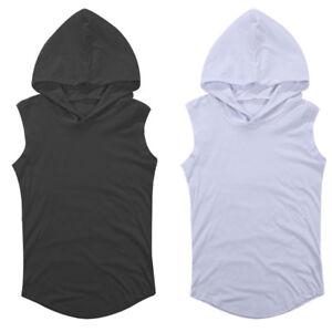 de6c9c7752295 Image is loading Men-Sleeveless-Hoodie-Sweatshirt-Sweater-Vest-Fitness-Gym-