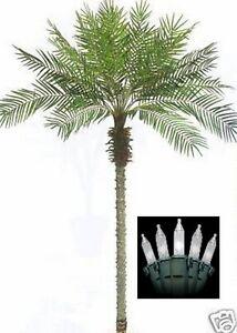 8-039-Artificial-Phoenix-Palm-Tree-8ft-Plant-Date-Sago-Pool-Deck-amp-Christmas-Lights