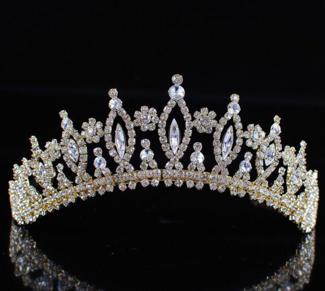 Vintage Wedding Bridal Tiaras Rhinestones Crowns Pageant Party Prom Headpiece