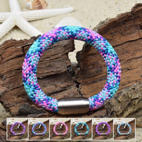 ❦ Armband IAN Segeltau 10 mm Surfer Magnetverschluß Farbe /& Größe wählbar ❦
