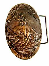 Cowboy Champion Broncho Buster Montana Belt Buckle by Bergamont