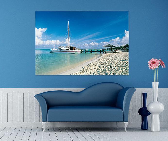 3D Sandstrand Yacht  Himmel 78  Fototapeten Wandbild BildTapete AJSTORE DE Lemon