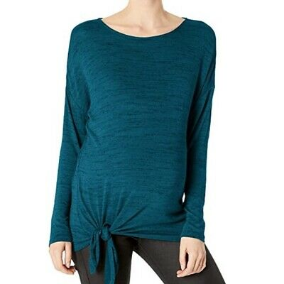 Motherhood Maternity Womens Maternity Long Dolman Sleeve Tie Front Tee