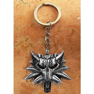 THE WITCHER 3 WILD HUNT Schlüsselanhänger Keychain WOLF HEAD. Neu