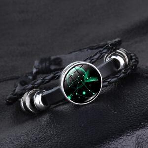 12-Constellation-Bracelets-Men-Women-Genuine-Leather-Stainless-Steel-Bracelet