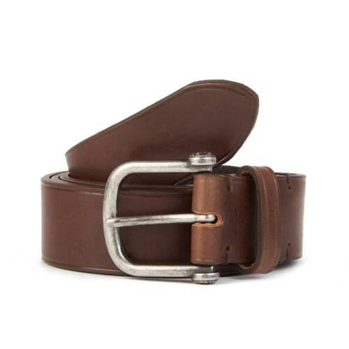 Single Prong Leather Belt C7AMU0513A355 Pretty Green Chocolate Brown