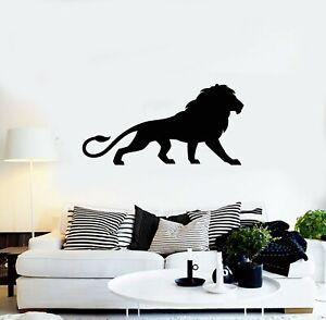 g2535 Vinyl Wall Decal Lion Animal Predator Tribal King Of Jungle Stickers