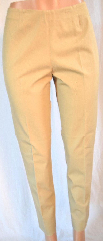 PEACE OF CLOTH Khaki Side Zipper Cotton Blend Pants Size 8 PC