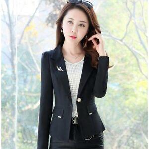 041bc226d5 Caricamento dell'immagine in corso tailleur-giacca-donna-slim-lunga-manica -lunga-nero-
