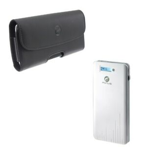 6000mAh-Power-Bank-Charger-w-Leather-Case-Belt-Clip-Holster-W8P-for-Cell-Phones