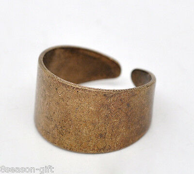 10 Gift Copper Tone Ring Base Blank Findings US 7(17.5mm)
