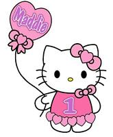 Hello Kitty Personalized Birthday T-shirt 2 Any Name & Age Printed Super Soft