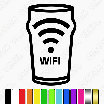 Pub free wifi sticker shop cafe bar window sign sticker, club bar office |  eBay