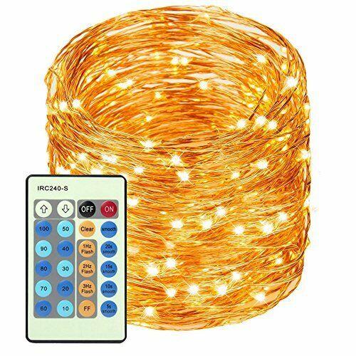 LED Copper Wire Lights 99ft/30m 300 LED Light String Dimmabl
