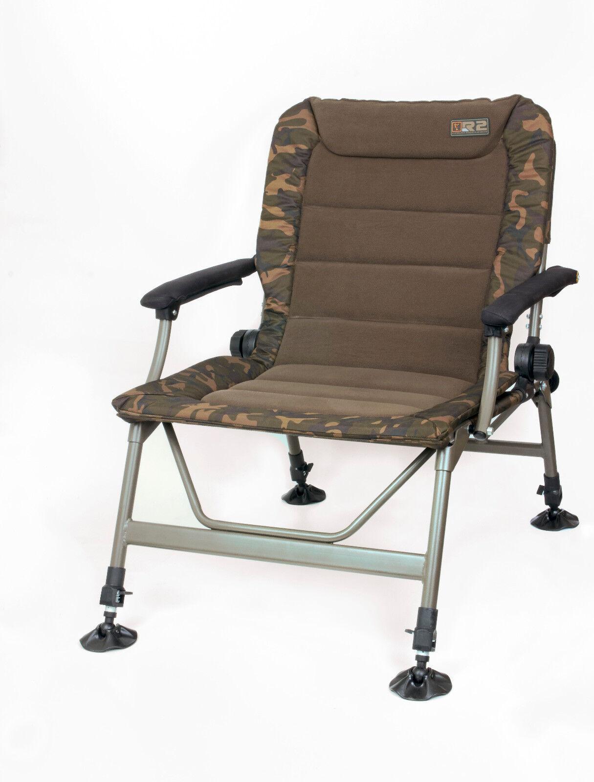 Fox R2 Camo Chair CBC061 Karpfenstuhl Carpchair Angelstuhl Stuhl Sitz Anglersitz