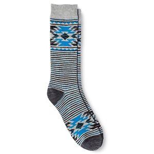 Mens-Hiking-Socks-6-12-Mossimo-Geo-Stripes-Grey-Blue