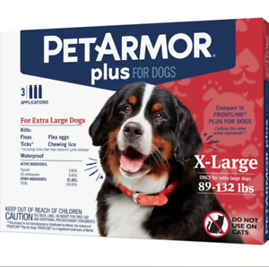 PET ARMOR PLUS for Dogs 89-132 lbs. 3 Applications