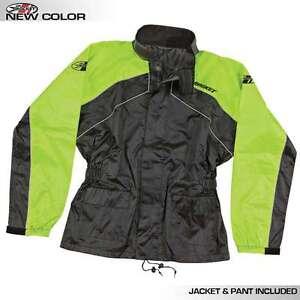JOE ROCKET RS2 RAIN SUIT MENS BLACK RED JACKET PANTS 2 PIECE MOTORCYCLE  GEAR