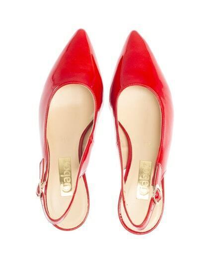Gabor Schuhe Sling Sling Sling Pumps High Heels rot rot Lederimitat Lack 21.550.75 5a596b