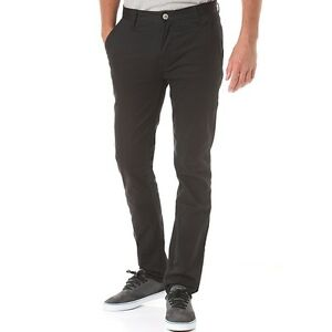 Emerica-Pants-Pure-Slim-Chino-Black-Mens-Skateboard-Bmx-Chinos