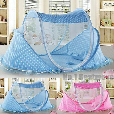 New For 0-3 Years Baby Portable Foldable Mosquito Tent Travel Infant Bed Crib