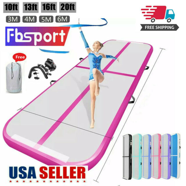 13//16//20FT Pro Airtrack Floor Home Mat Gymnastics Tumbling Mat GYM Pump Gift U.S