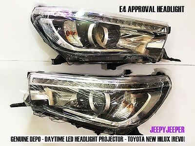 GENUINE DEPO DAYTIME LED HEADLIGHT PROJECTOR TOYOTA HILUX REVO M70 M80 15 16 17