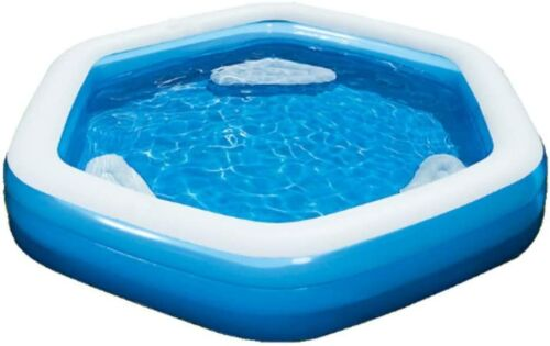 H2O GO HEXAGONAL LOUNGE POOL WITH 3 SEATS 8.8 FEET WIDE FAST SHIPPING