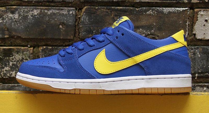 Nike Dunk SB Zoom Low BOCA JR JUNIOR ROYAL Bleu Jaune 854866-471 sz 8