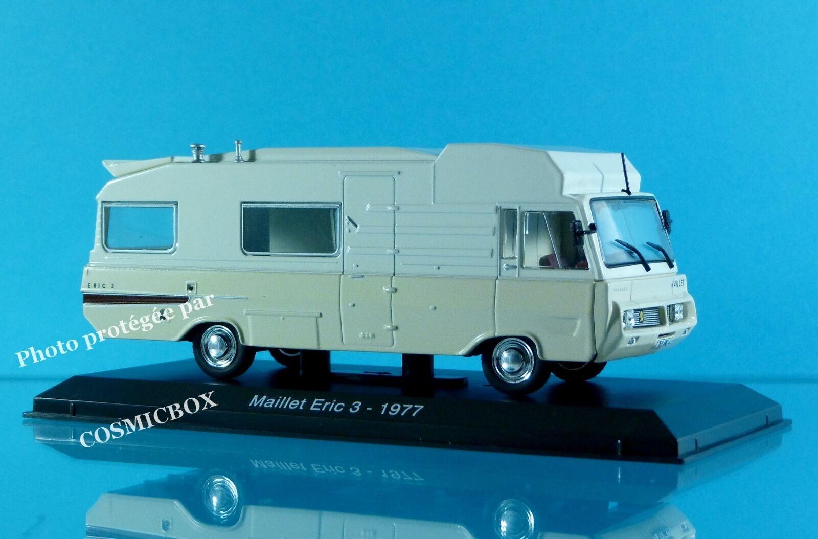 Camping car MAILLET ERIC 3 sur chassis PEUGEOT J7 jean 1 43ème rando caravane