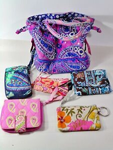 Vera Bradley Lot-1 makeup case, 4 Wallets, 1 phone case, 2 ID holders, Ditty Bag