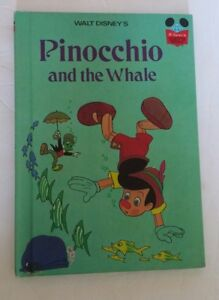 Walt-Disney-039-s-Pinocchio-and-the-Whale-Hard-Cover-Book-1977