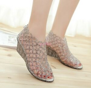 New-temperament-Female-Sandals-Wedge-Plastic-Jelly-Shoes-Breathable-Women-Sandal