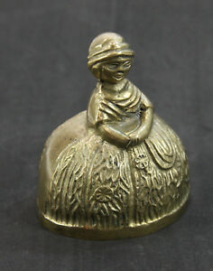 Details about Brass Dinner Bell, Southern Lady with Big Dress