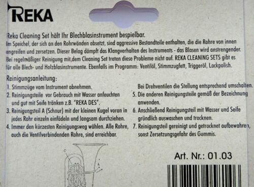 Reka Motto Reinigungsset Trompete Flügelhorn  Fabrikat schnell bequem sauber