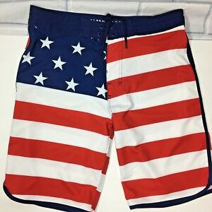 dda3dd8f81 Old Navy California USA Flag Patriotic Board Shorts Swim Trunks Size ...