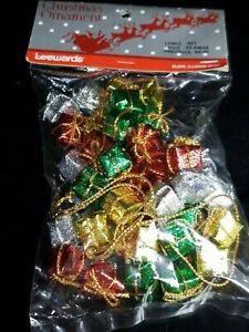 Vintage-LeeWards-Bag-Of-Wrapped-Gifts-Christmas-Ornaments-New-Original-Unopened