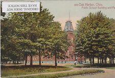 OAK HARBOR (W. of Sandusky), OHIO, SCHOOL & PARK, 1910