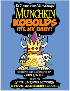 Munchkin-Kobolds-Ate-My-Baby-Card-Game-Booster-Adds-15-Cards-Steve-Jackson-Games