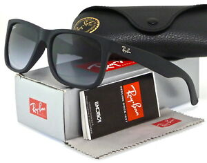 6bf64af20ea874 Ray-Ban Justin Classic Rubber Black l Grey Gradient RB4165 601 8G ...