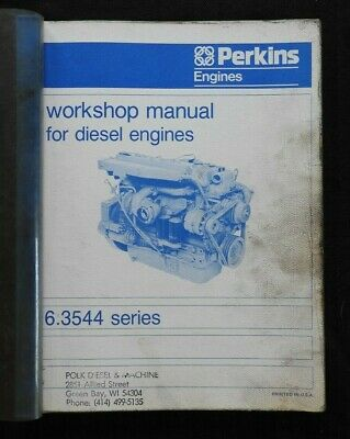 Detroit Diesel Perkins Engine 6.354 SERVICE MANUAL Shop Overhaul Repair Factory