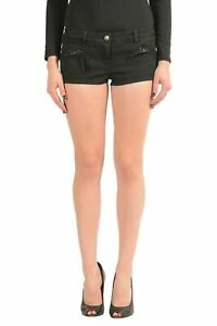 Just-Cavalli-Black-Denim-Women-039-s-Casual-Shorts-US-s-IT-40